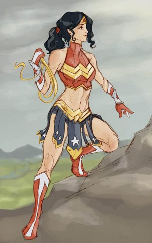 Wonder Woman Costume Redesign by ArtNerdEm