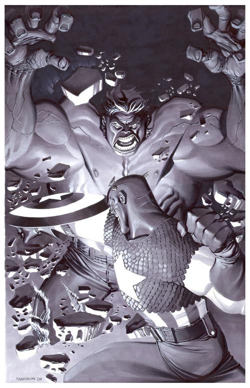 Hulk VS Captain America by chriss2d
