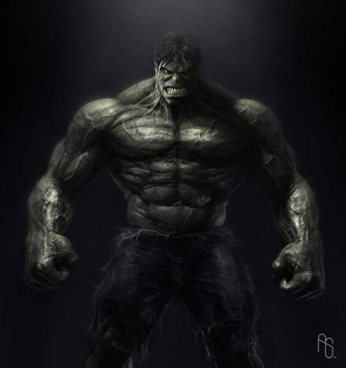 Hulk Body, The Incredible Hulk by aaronsimscompany