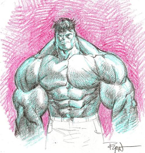 Crayon Hulk by WyA