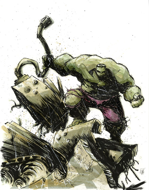 Hulk Smash Fn Tank by skottieyoung