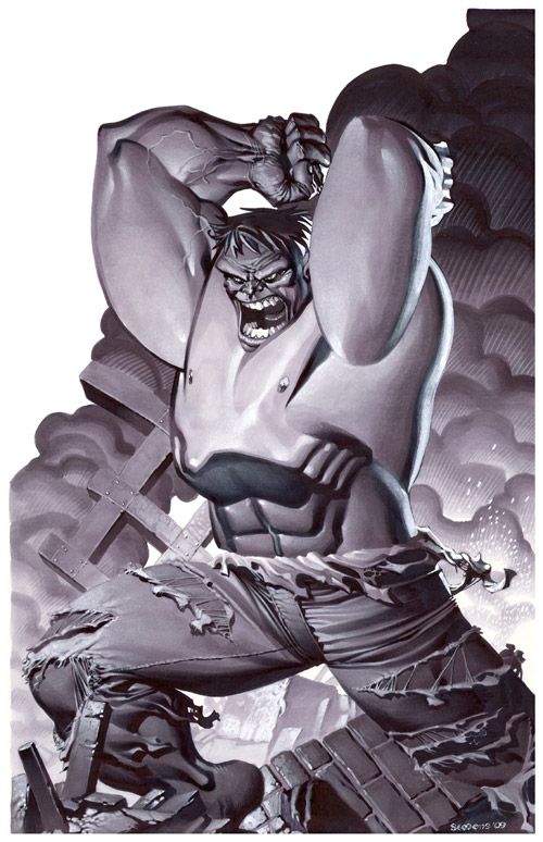 Incredible Hulk Marker Illo by chriss2d