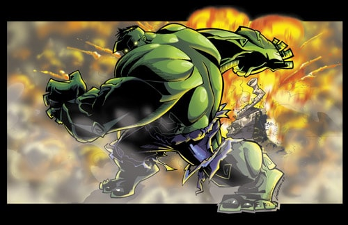 hulk colorized by sAUcEbOy