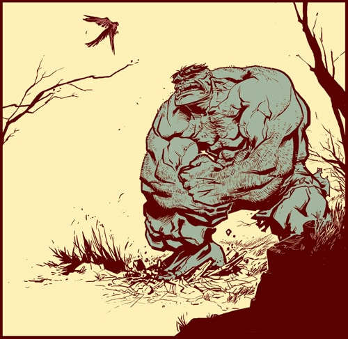 Hulk vs Birdie by Manarama