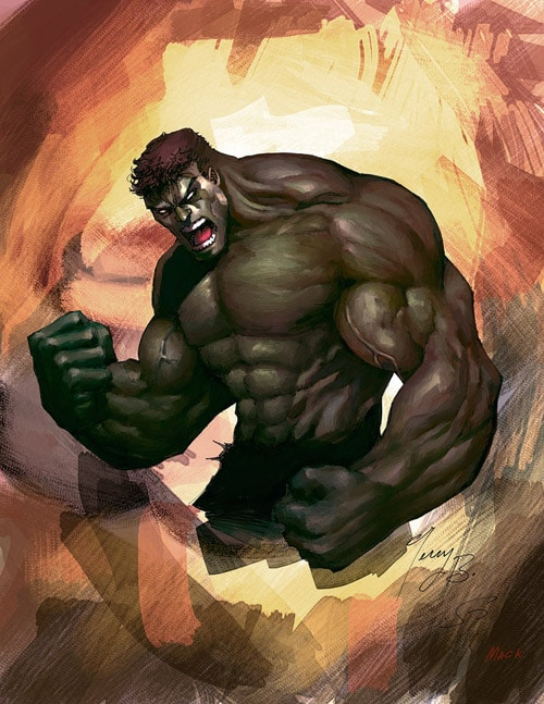 The Incredible HULK by kandoken