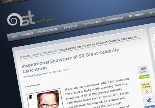 Inspirational Showcase of 50 Great Celebrity Caricatures
