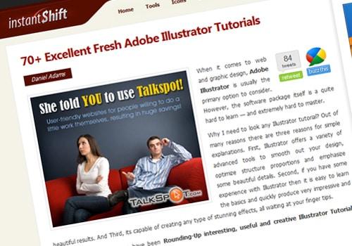 70+ Excellent Fresh Adobe Illustrator Tutorials