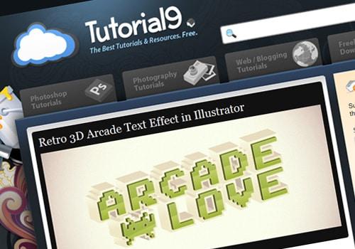 Retro 3D Arcade Text Effect in Illustrator