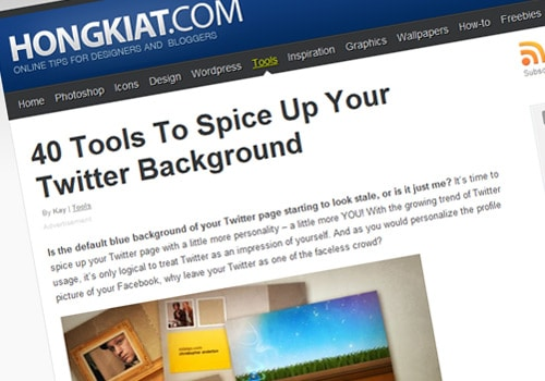 40 Tools To Spice Up Your Twitter Background