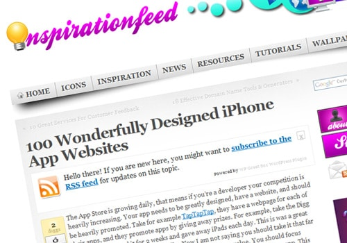100 Wonderfully Designed iPhone App Websites