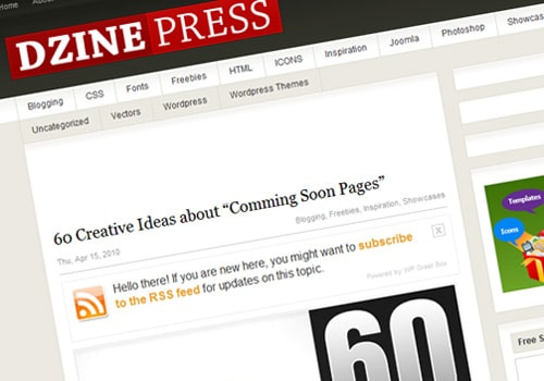 "60 Creative Ideas about ""Comming Soon Pages"""