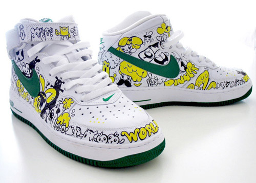 Custom painted Nike sneakers