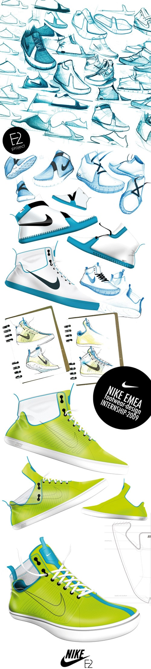 NIKE INTERNSHIP 2009 footwear-design