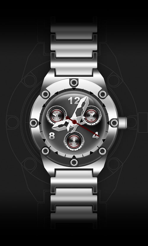 How to Draw a Watch in Photoshop