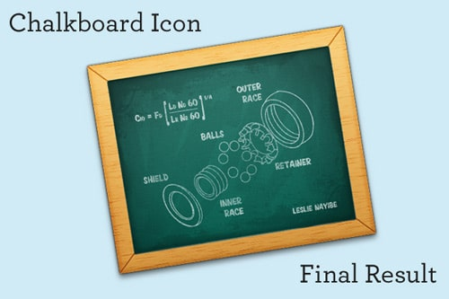 Create a Chalkboard Icon Using Photoshop and IconBuilder