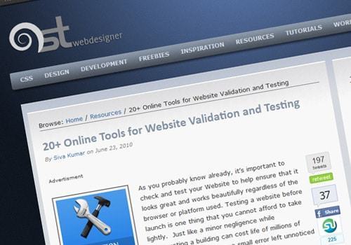20+ Online Tools for Website Validation and Testing