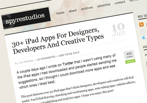 30+ iPad Apps For Designers, Developers And Creative Types
