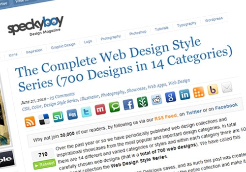 The Complete Web Design Style Series (700 Designs in 14 Categories)