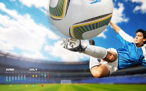 FIFA 2010 World Cup Calendar Wallpaper pack