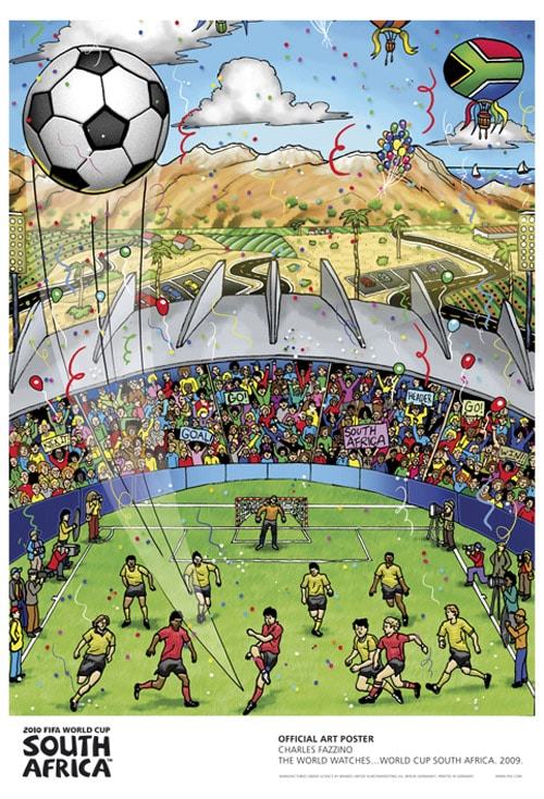 Charles Fazzino The World Watches ... World Cup South Africa