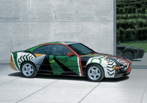 1995 BMW 850 CSi Art Car by David Hockney - Side Angle