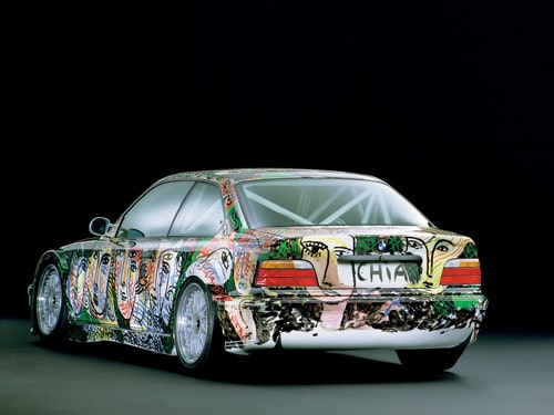 1992 BMW 3 series Touring Art Car by Sandro Chia - Rear Angle
