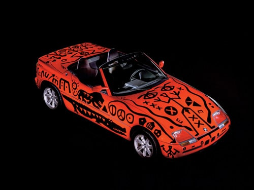 1991 BMW Z1 Art Car by A. R. Penck - Front Angle Top