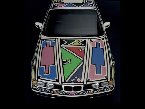 1991 BMW 525i Art Car by Esther Mahlangu - Front