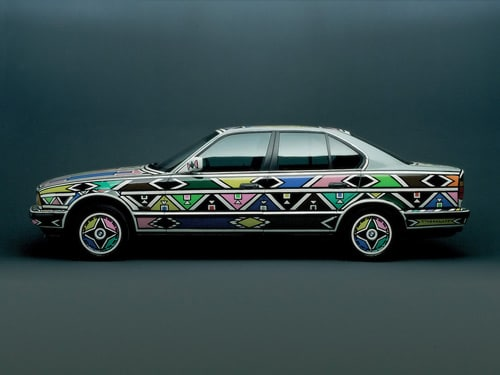 1991 BMW 525i Art Car by Esther Mahlangu - Side