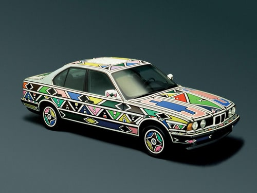 1991 BMW 525i Art Car by Esther Mahlangu - Front And Side