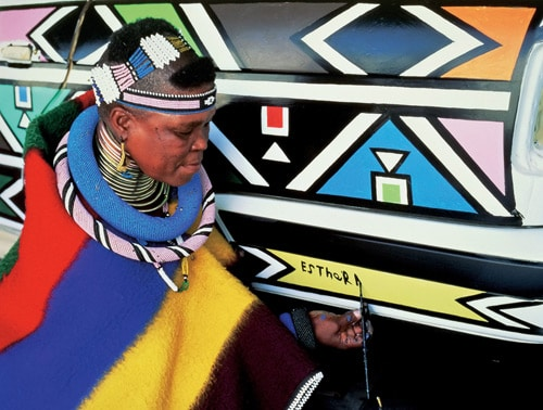 1991 BMW 525i Art Car by Esther Mahlangu - Esther Mahlangu