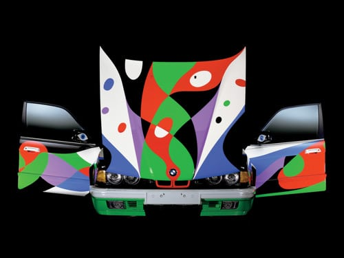 1990 BMW 730i Art Car by Cesar Manrique - Front Open Up