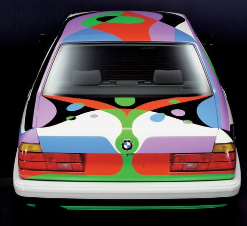 1990 BMW 730i Art Car by Cesar Manrique - Rear