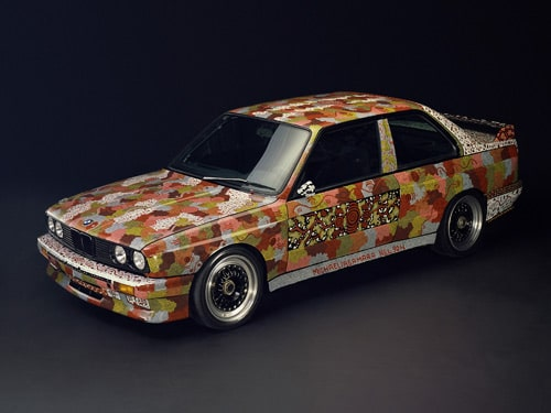 1989 BMW M3 Group A Raceversion Art Car by Michael Jagamara Nelson - Front And Side