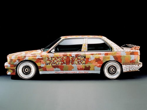 1989 BMW M3 Group A Raceversion Art Car by Michael Jagamara Nelson - Side