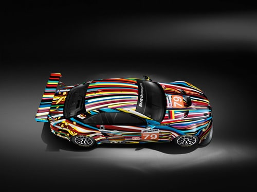 Jeff Koons BMW M3 GT2 art car - Front Side Top