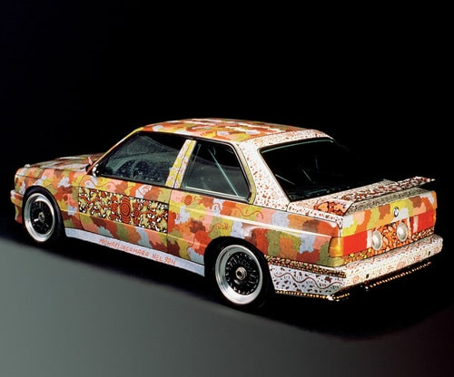 1989 BMW M3 Group A Raceversion Art Car by Michael Jagamara Nelson - Rear And Side