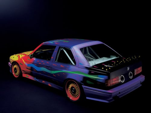 1989 BMW M3 Group A Raceversion Art Car by Ken Done - Rear And Side