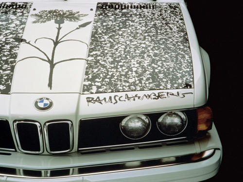 1986 BMW 635 CSi Art Car by Robert Rauschenberg - Hood Section