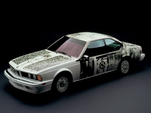 1986 BMW 635 CSi Art Car by Robert Rauschenberg - Side Angle