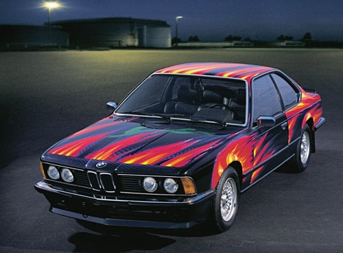 1982 BMW 635 CSi Art Car by Ernest Fuchs - Front and Side