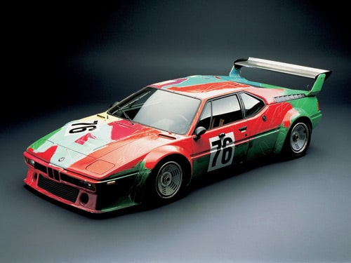 1979 BMW M1 Art Car by Andy Warhol - Front And Side