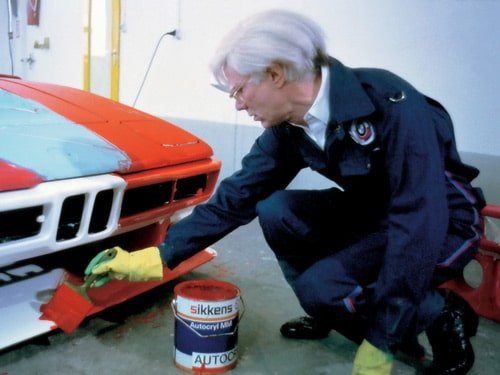 1979 BMW M1 Art Car by Andy Warhol - Andy Warhol Painting