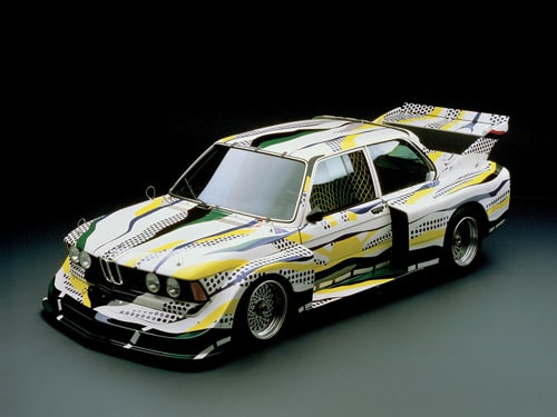 1977 BMW 320i Group 5 Raceversion Art Car by Roy Lichtenstein - Front And Side Top