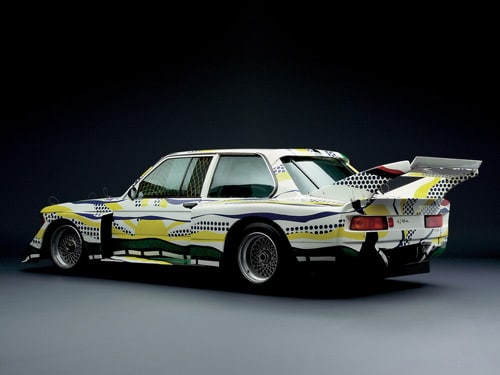 1977 BMW 320i Group 5 Raceversion Art Car by Roy Lichtenstein - Rear And Side