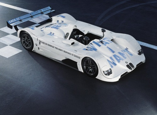 Jenny Holzer – USA – 1999 BMW V12 LMR art car – Front Side Top