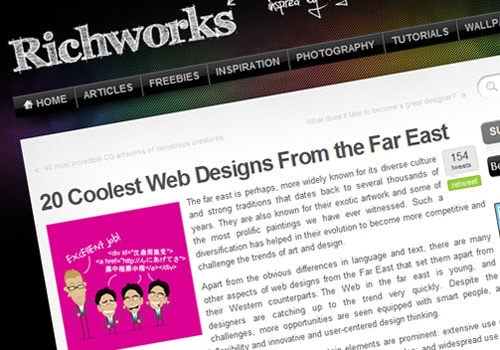 20 Coolest Web Designs From the Far East