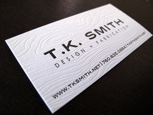 Collection of well designed business cards designrfix tk smith by by anemone letterpress colourmoves