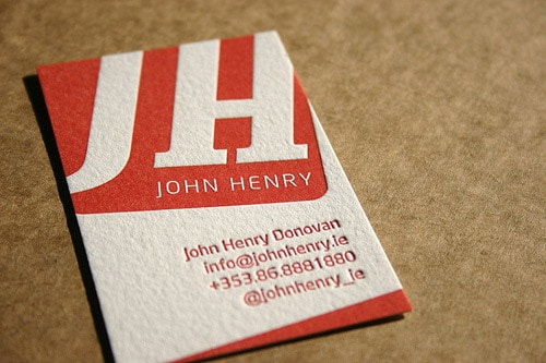 Business Card for: John Henry Donovan