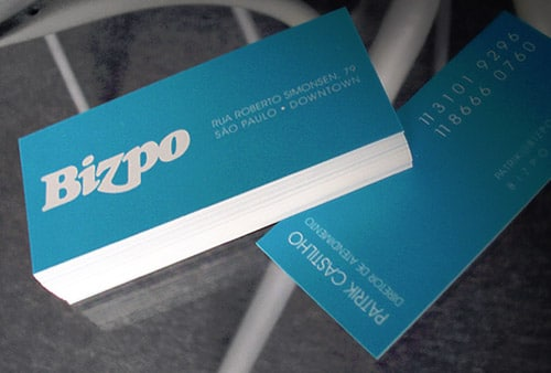 BIZPO | creative agency business card